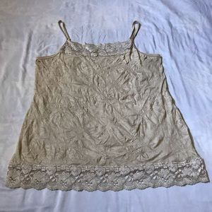 Maurices Solid Lace Crinkle Cami Tank top
